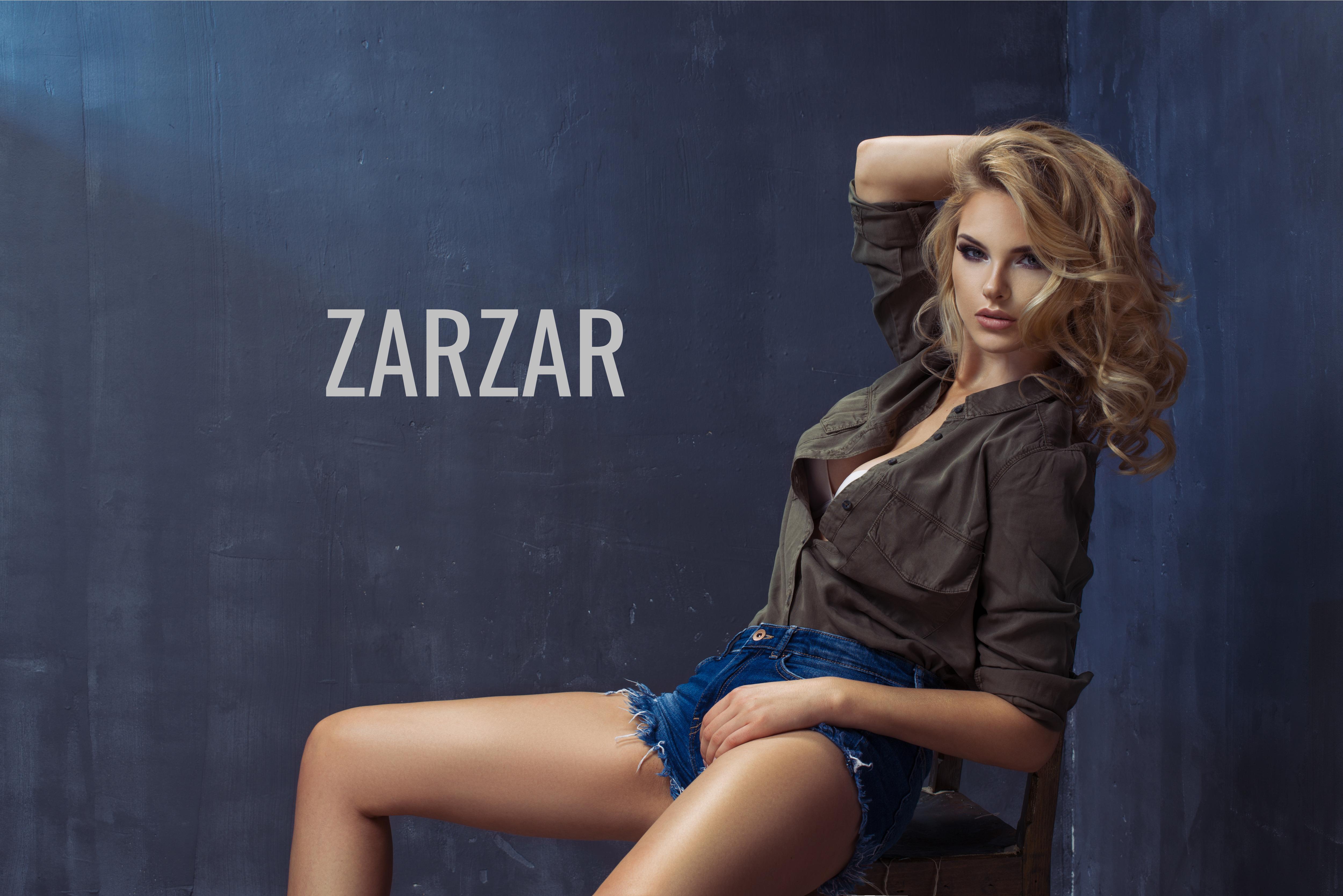 ZARZAR FASHION Beautiful Model Modeling In Sexy Jean Shorts. Beautiful Sexy Shorts For Women (Cute Shorts For Girls).