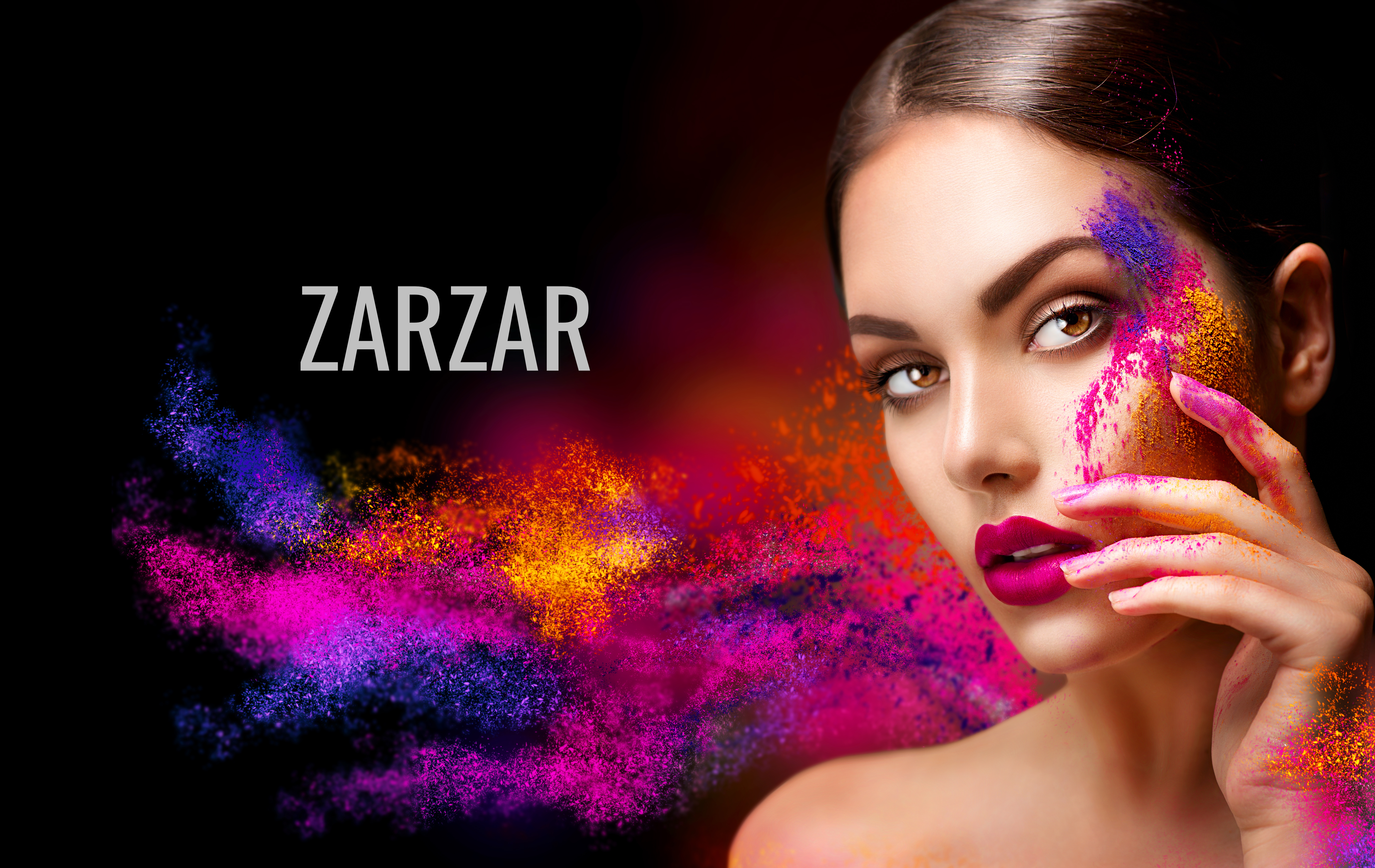 ZARZAR FASHION Beautiful Model Modeling For Beautiful Makeup Ads (Beautiful Makeup Advertisements). Sexy Makeup For Women (Cute Makeup For Girls).