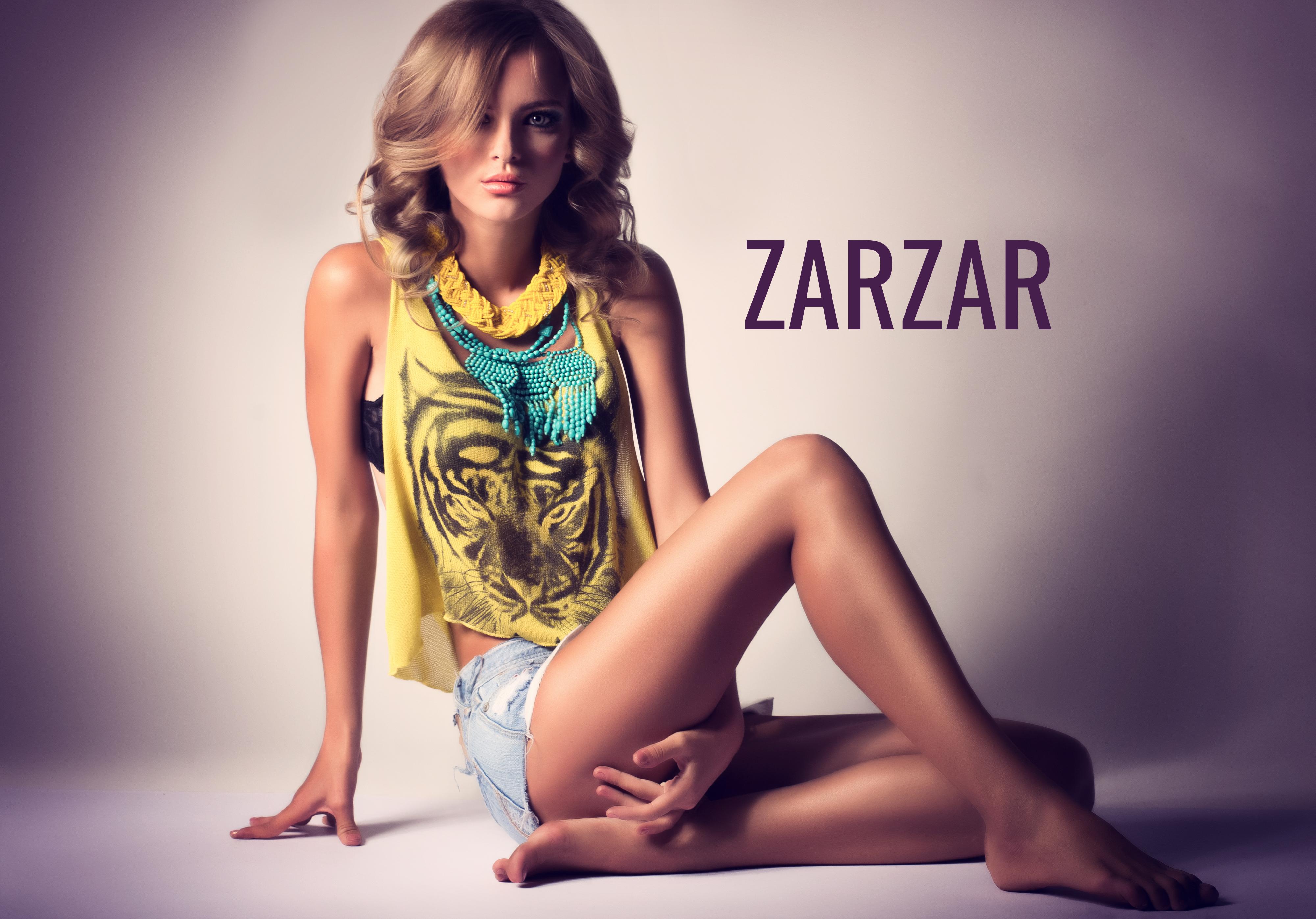 ZARZAR FASHION Beautiful Model Modeling In Sexy Light Blue Jean Shorts. Beautiful Sexy Shorts For Women (Cute Shorts For Girls).