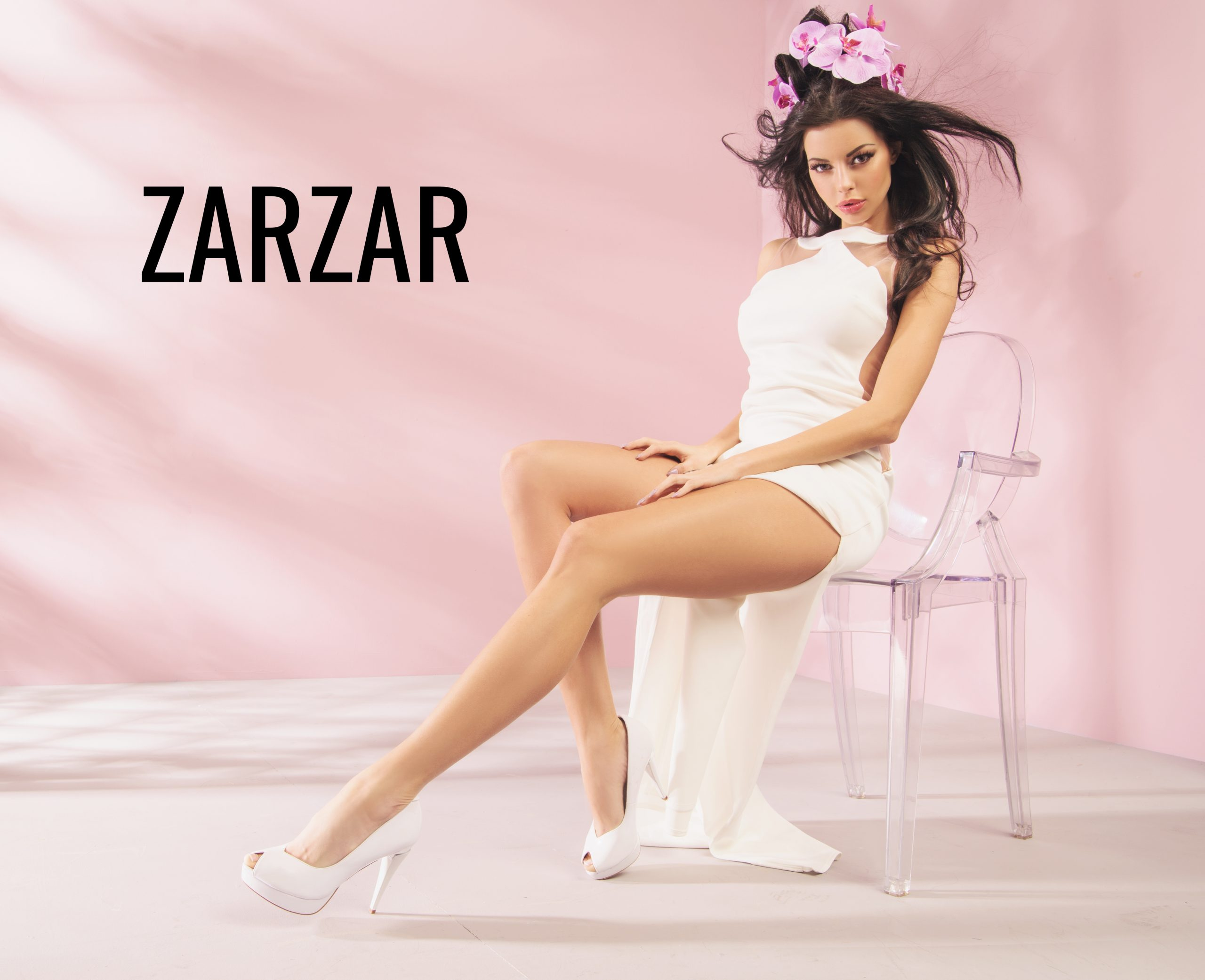 ZARZAR FASHION White High Heels For Women. White Pumps For Women.