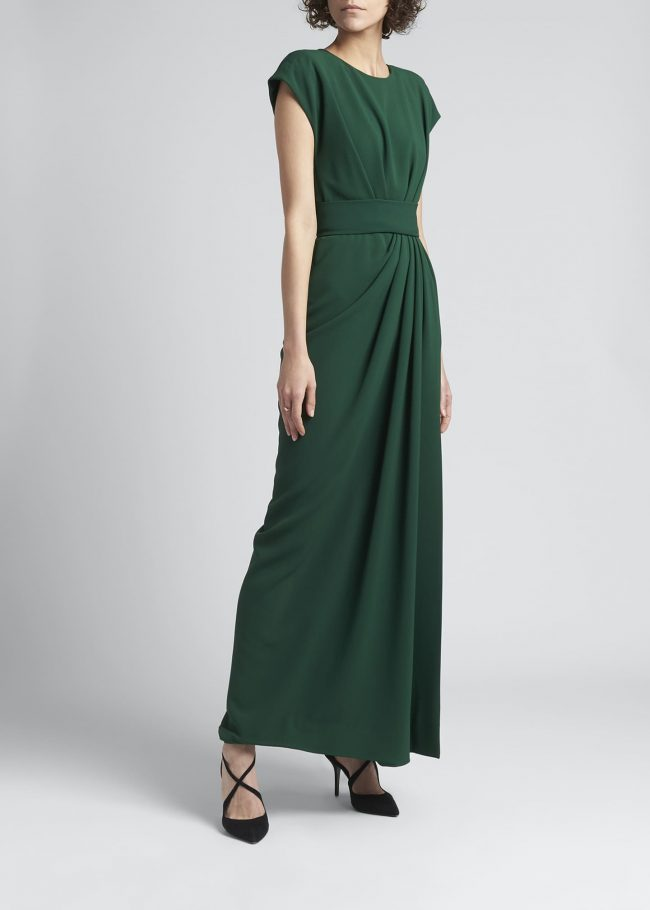 Draped Cady Gown.