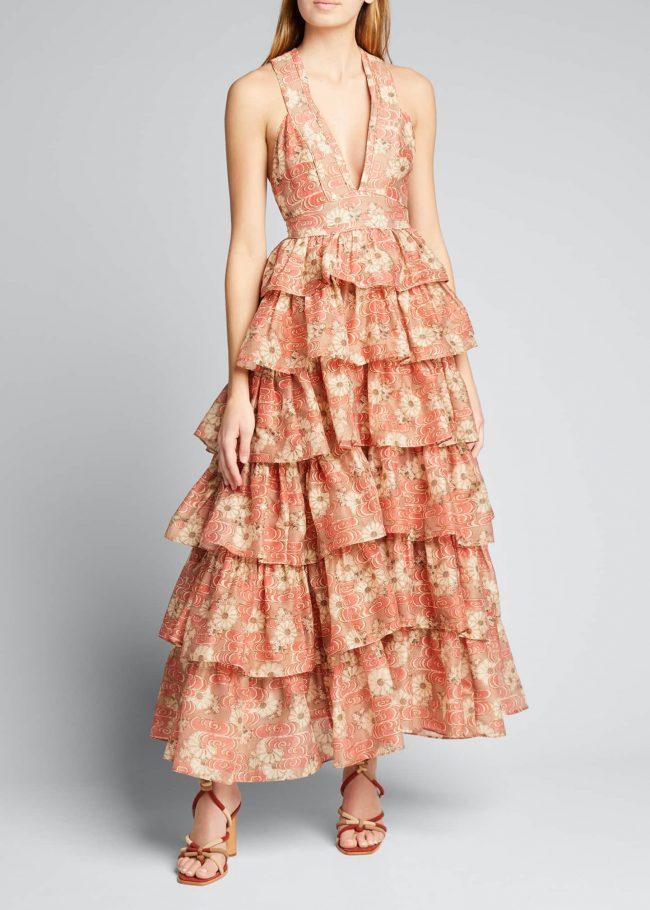 ULLA JOHNSON Narcissa Ruffle Gown.