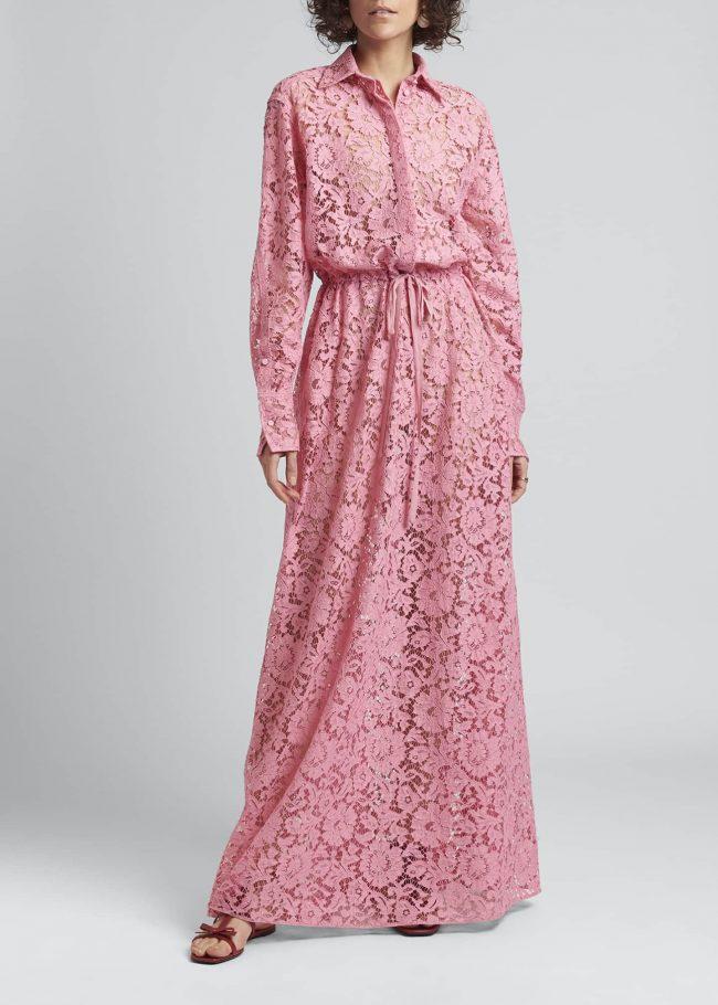VALENTINO Allover Lace Gown.